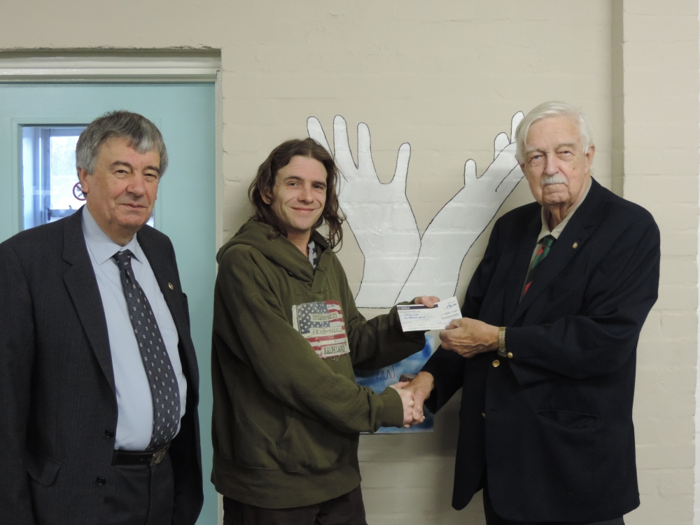 Rotary Cheque to Catching Lives Canterbury