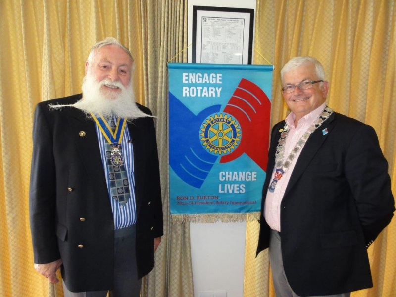 Visit by New District Governor