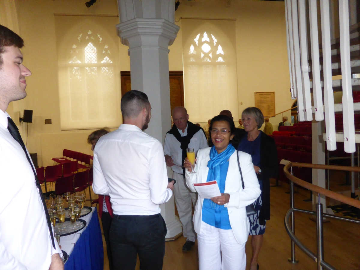 Guests arrive for drinks & canapes