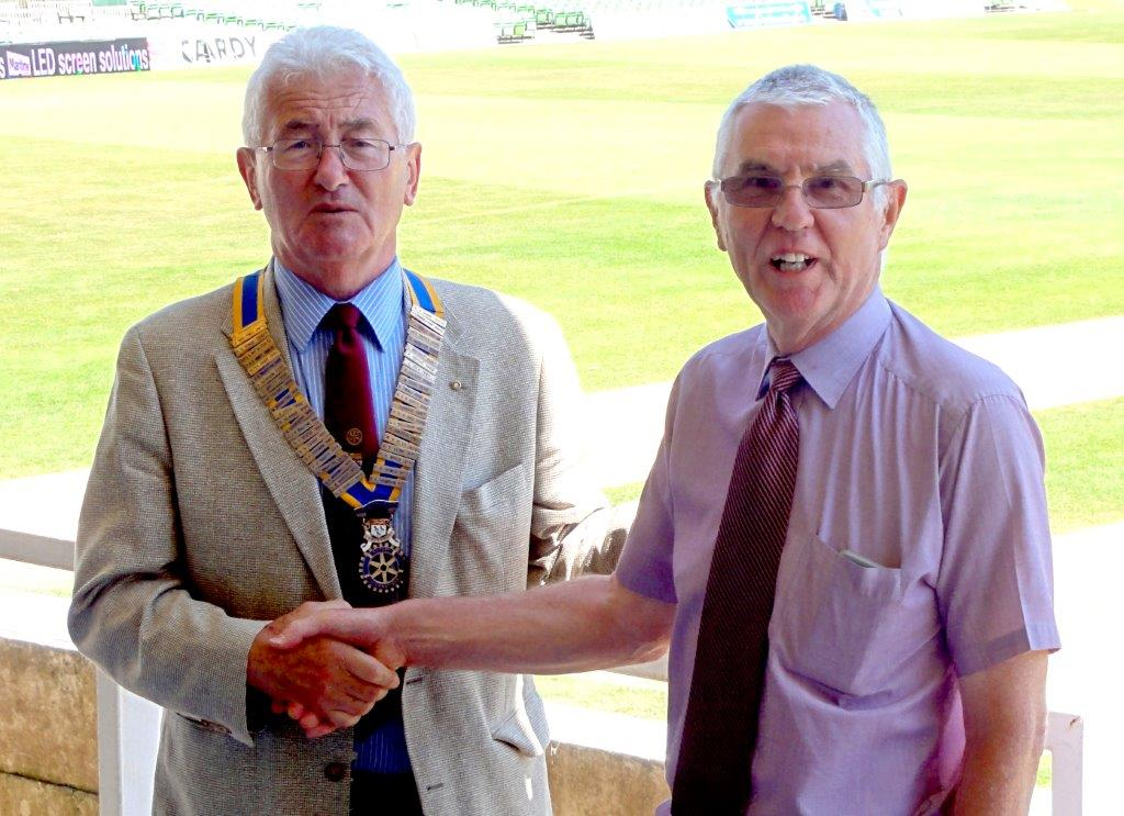 Viv Pritchard hands over the reins to Peter Hermitage