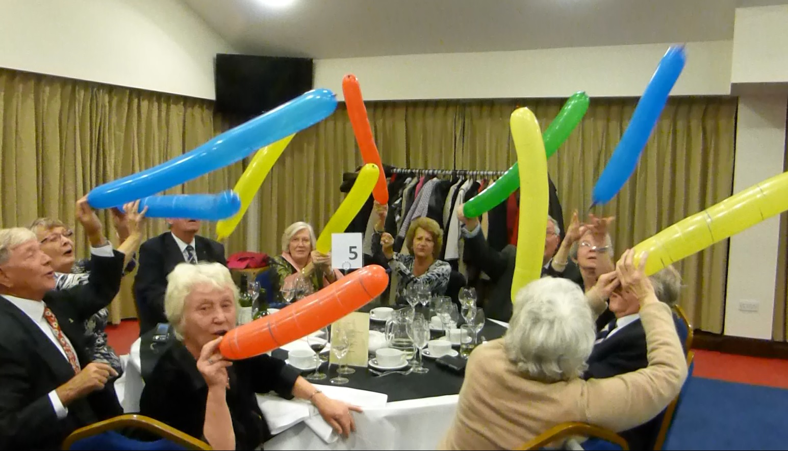 Table 5 launches flying balloons