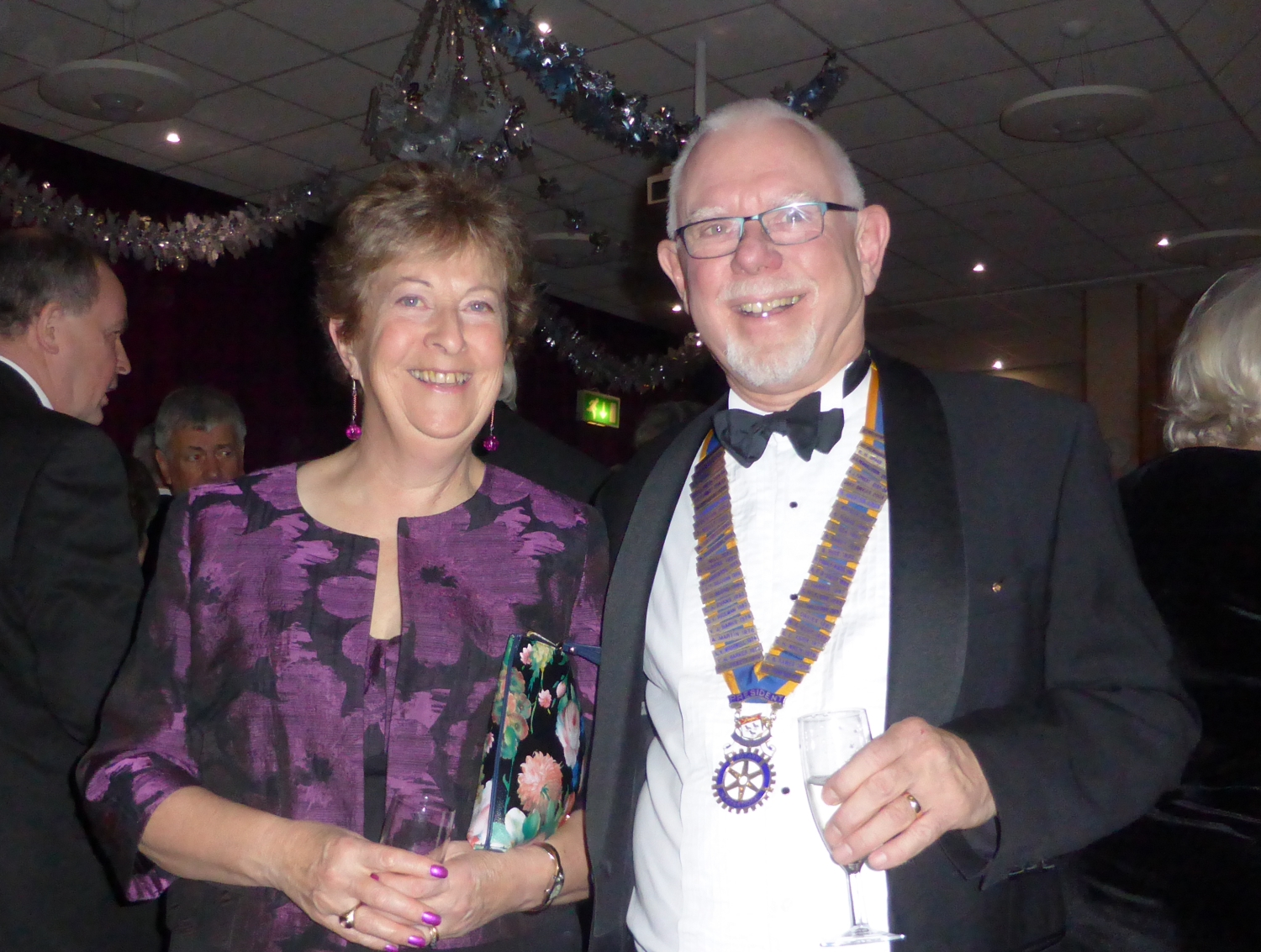 Jayne and President Martin Ward
