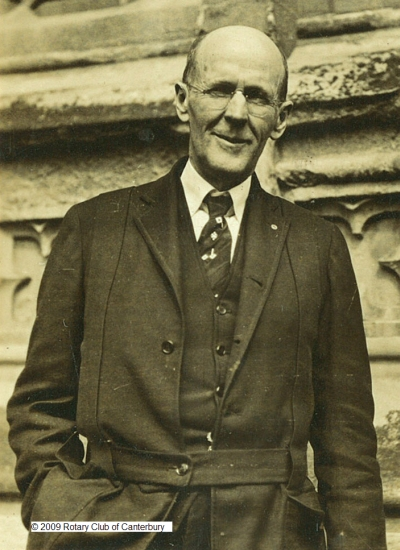 Rotary founder, Paul Harris, visiting Canterbury Cathedral in 1928. (Copyright Rotary Club of Canterbury)