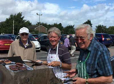 Rotarians busy with the barbeque!