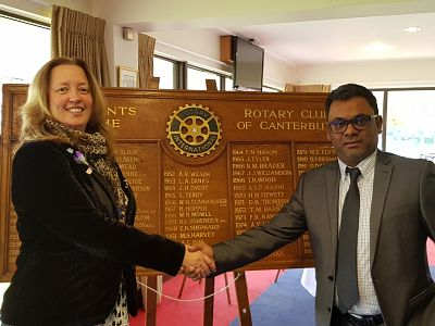 New member Kailash Maunick inducted