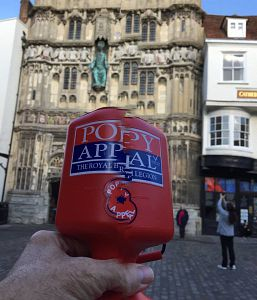 Collecting for the Poppy Appeal 2017