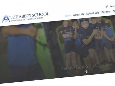 Screen grab of the Abbey School web site.