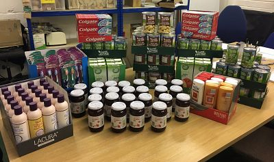 Canterbury Food Bank receives supplies bought with our donations