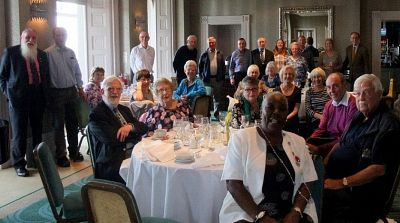 Rotarians and guests on their Dover Trip