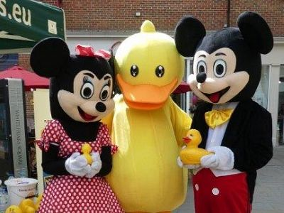Our ducks strike a pose with Mickey & Minnie At Whitefriars last Saturday
