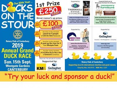 Try your luck, sponsor a duck!