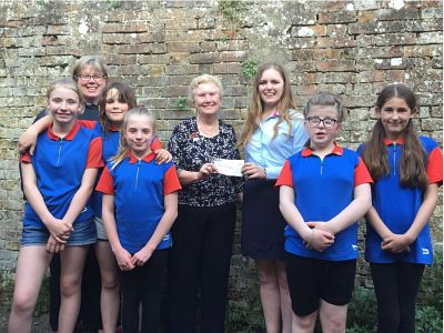 Donation to Harbledown Guides