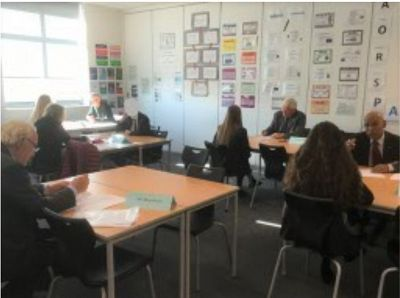 Mock interviews at Spires Academy