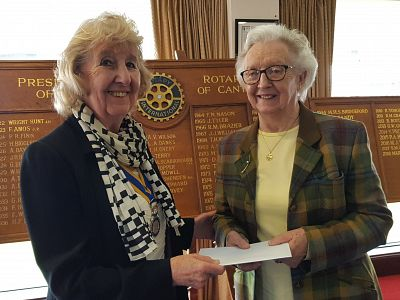 June Bushell with our President, Margaret Griffin