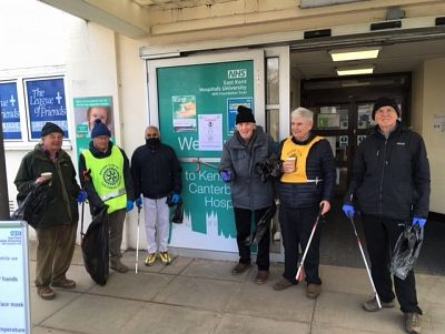 Litter pick at Kent & Canterbury Hospital