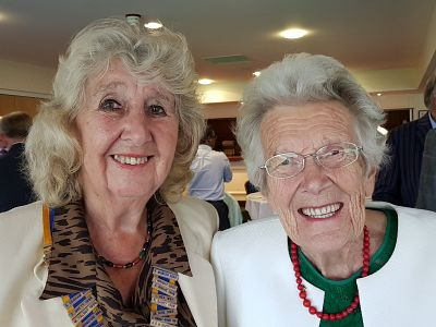 President Margaret Griffin with Rtn Marjorie Lyle.