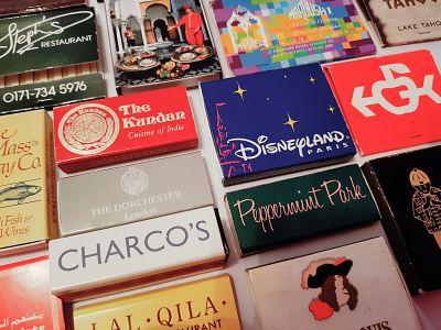 Picture: An assortment of match boxes and books. Picture credit: Rotary Club of Canterbury.