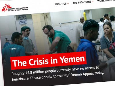 MSF website screen grab