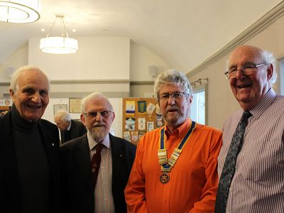 Club members at Past President Peter Hodge's induction in Essex