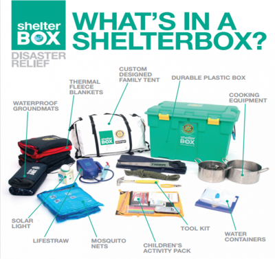 Items that may be contained in a ShelterBox