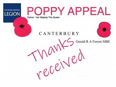 Poppy Appeal thanks