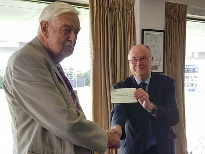 Donation to Canterbury and District Recorder
