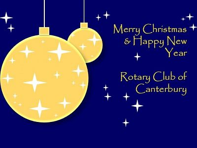 Christmas greetings to supporters and fellow Rotarians!
