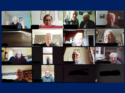 Picture: A snapshot of our Members during the meeting (some are a little camera-shy). Picture credit: Rotary Club of Canterbury.