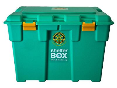 A ShelterBox green box.