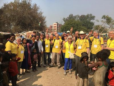 Sinitta and other Rotarians during their trip to India.