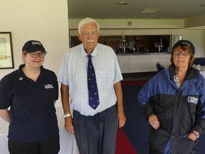 Canterbury Street Pastors Margaret Northey and Gemma Witts together with PP and Chair of our Community Services Committee David Barton.