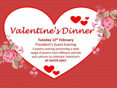 Valentine's dinner guest evening: Tuesday 12 February