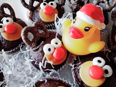 Xmas duck with reindeer friends!