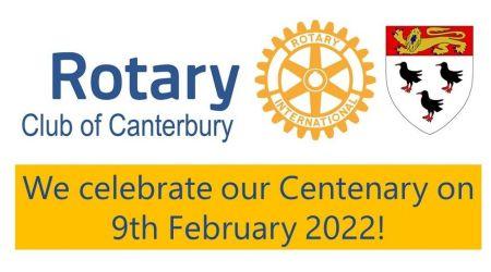 Canterbury Rotary Logo + Celebrating our centenary